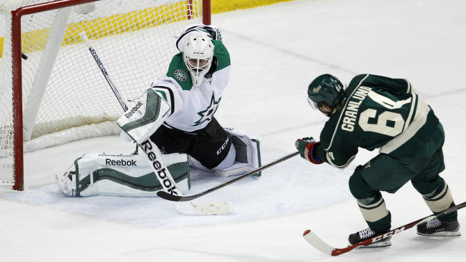 Wild score record 6 times in 3rd period to beat Stars 6-2