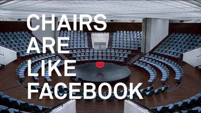 Facebook's first agency-created video ad compares social network to chairs [video]
