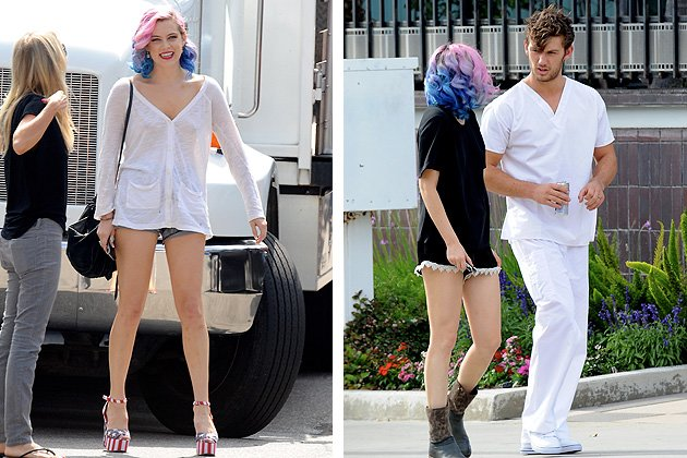 "Riley Keough am Set von ""Magic Mike"" - rechts mit Alex Pettyfer (Bilder: ddp)"