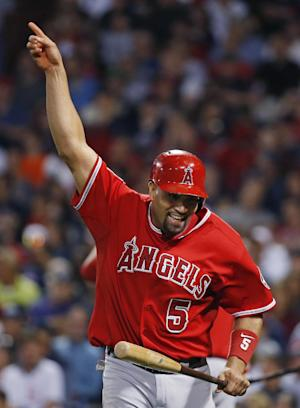 Hamilton drives in 3 runs, Angels beat Red Sox 8-3