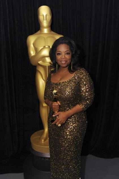 Oprah Winfrey poses at the Academy Awards, Hollywood, February 26, 2012 -- ABC