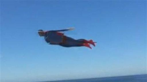 "Cyclist: Soaring Superman ""Even Had a Cape"""