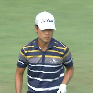 Kevin Na's delicate birdie chip-in at Deutsche Bank