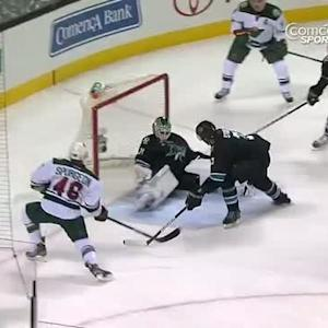 Niemi stones Spurgeon with the elbow
