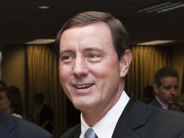 Neb. Lt. Governor Rick Sheehy is seen in a file photo from March 29, 2012 in South Sioux City, Neb. Sheehy resigned on Saturday Feb. 2, 2013. (AP Photo/Nati Harnik)