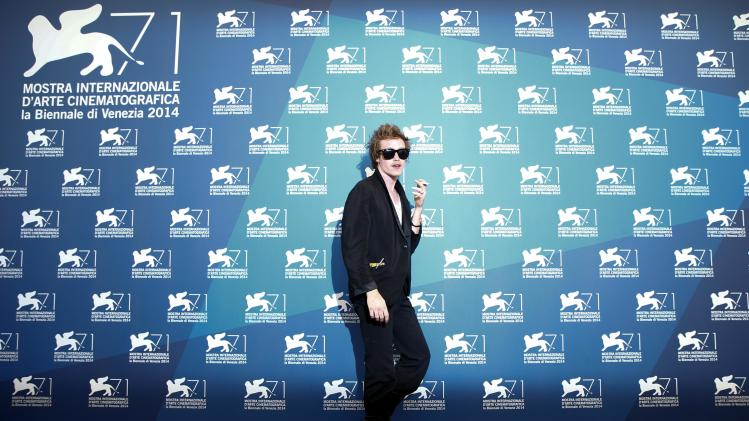 "Actor Caleb Landry Jones poses during the photo call for the movie ""Heaven Knows What"" at the 71st Venice Film Festival"
