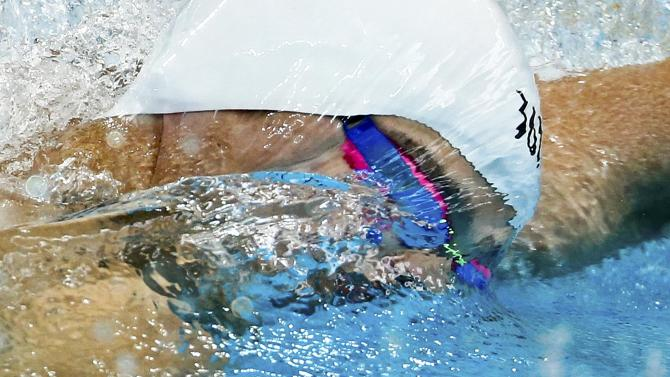 Sun of China swims during the men's 200m freestyle heats at the Aquatics World Championships in Kazan