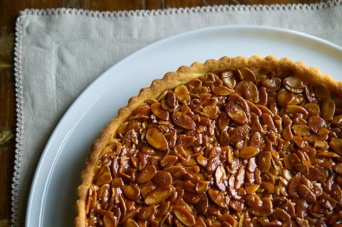 Almond and Tangerine Shortbread Tart