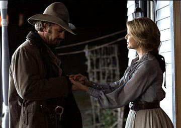Kevin Costner and Annette Bening in Touchstone's Open Range