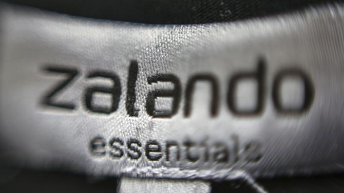 File photo of a Zalando label attached on an item of clothing in a showroom of the fashion retailer Zalando in Berlin