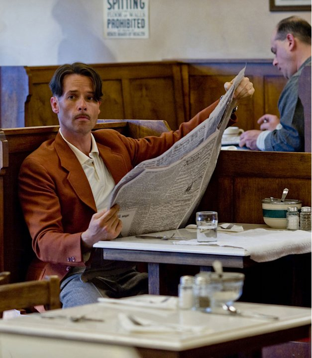 "Guy Pearce stars as Monty in ""Mildred Pierce."""