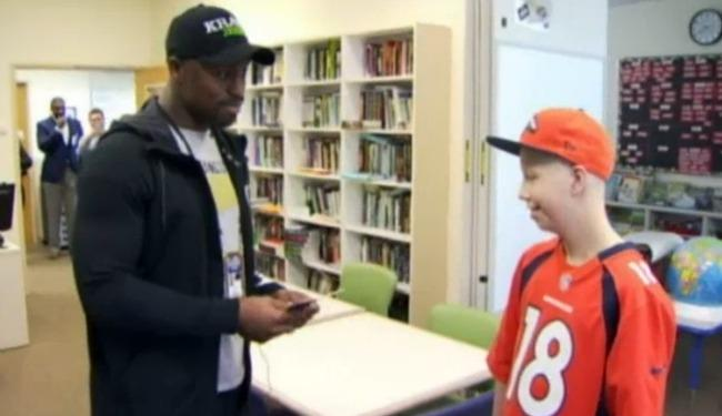 Vernon Davis Was Overcome With Emotion After Giving Super Bowl Tickets To A Young Cancer Patient