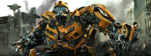 "In this publicity image released by Paramount Pictures, Bumblebee is shown in a scene from ""Transformers: Dark of the Moon."" (AP Photo/Paramount Pictures)"