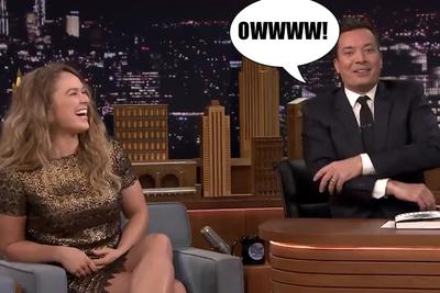 Ronda Rousey made Jimmy Fallon tap in 6 seconds on 'The Tonight Show'