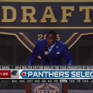Carolina Panthers pick linebacker Shaq Thompson No. 25 in the 2015 NFL Draft