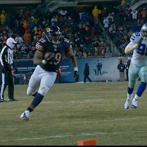 Chicago Bears running back Michael Bush 17-yard touchdown catch