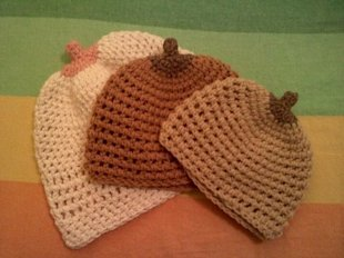 Boobie Beanies for all skin tones. Photo courtesy of Etsy.