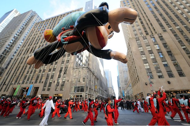 IMAGE DISTRIBUTED FOR SABAN BRANDS - Paul Frank's Julius soars through the streets of New York at the Macy's Thanksgiving Day Parade, Thursday Nov. 22, 2012.  (Photo by Diane Bondareff/Invision for Sa