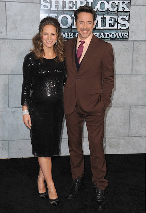 Sherlock Holmes A Game of Shadows 2011 LA Premiere Susan Downey Robert Downey Jr.