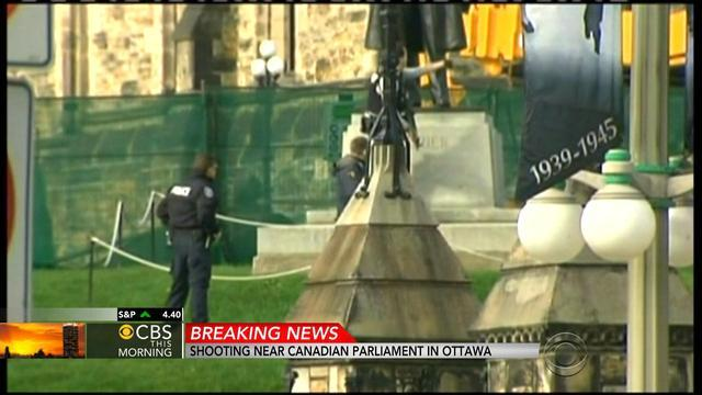Shots fired in Canadian capital