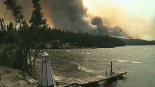 The forest fires that tore through parts of Labrador damaged Bell Aliant's fibre-optic line.