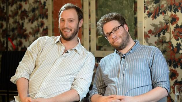 Evan Goldberg and Seth Rogen pose for a photocall for 'This Is The End' at The Soho Hotel on June 24, 2013 in London, England -- Getty Images