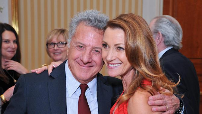 Actor Dustin Hoffman and actress Jane Seymour attend AARP The Magazine's 12th Annual Movies For Grownups Awards at The Peninsula Hotel on Tuesday, February 12, 2013 in Beverly Hills, California. ( Photo by Vince Bucci/Invision for AARP The Magazine/AP Images
