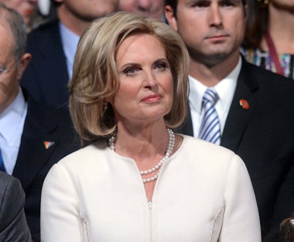 "FILE - This Oct. 3, 2012 photo shows Ann Romney waiting for the start of the first presidential debate at the University of Denver in Denver. ABC says Ann Romney will guest-host at the morning news program ""Good Morning America,"" for its 8 a.m. (Eastern time) hour. Joining George Stephanopoulos at the anchor desk, Mrs. Romney will be filling in for co-anchor Robin Roberts, who is on extended medical leave. (AP Photo/Pool-Michael Reynolds, file)"