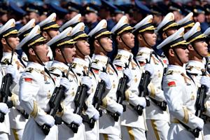 China's soldiers march through Red Square during…