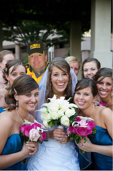Dad Photoshopped Into Wedding Pictures