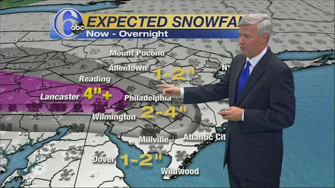 AccuWeather: Periods of Light Snow Today and Tonight