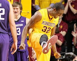 Austin Hollins leads No. 9 Minnesota past NW 69-51