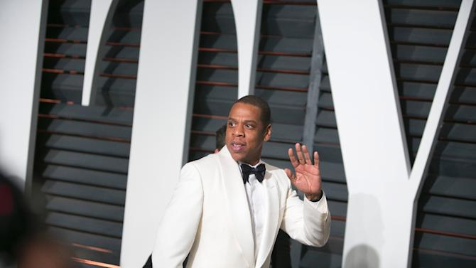 Jay-Z arrives in Beverly Hills, California, on February 22, 2015
