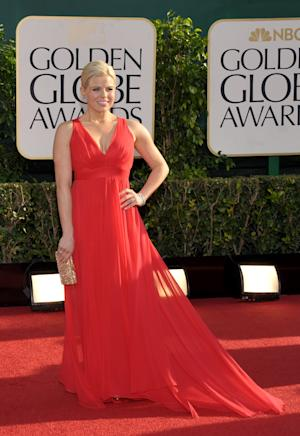 Megan Hilty arrives at the 70th Annual Golden Globe Awards at the Beverly Hilton Hotel on Sunday Jan. 13, 2013, in Beverly Hills, Calif. (Photo by John Shearer/Invision/AP)