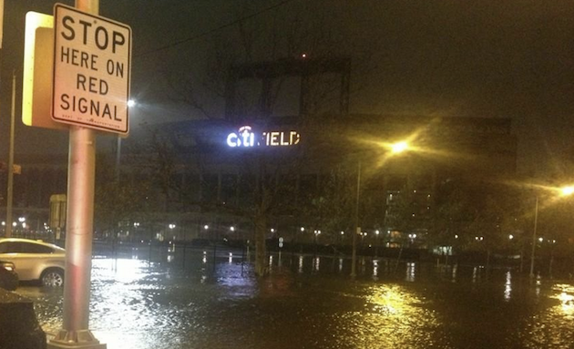 Citi Field Surrounded by Water After Sandy