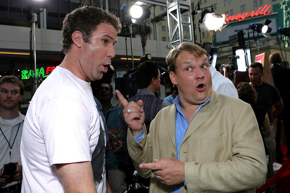 "Will Ferrell and Andy Richter at The Premiere of Columbia Pictures'  ""Talladega Nights: The Ballad of Ricky Bobby"""