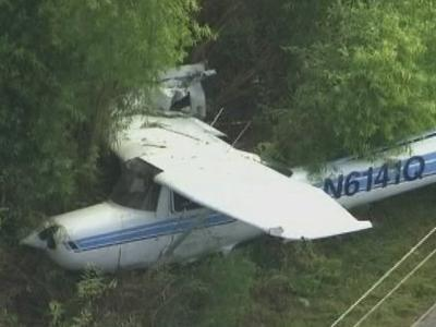 Raw: Small Plane Crashes Onto Fla. Road