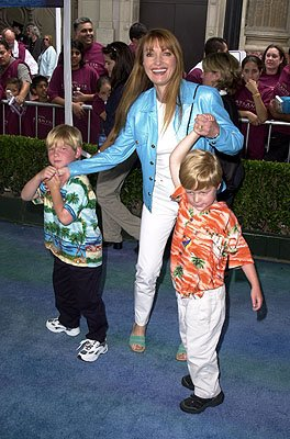 Premiere: Jane Seymour wrangling children at the Los Angeles premiere of Disney's Atlantis: The Lost Empire - 6/6/2001