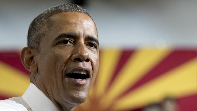 President Barack Obama speaks at Central High School, Thursday, Jan. 8, 2015, in Phoenix, about the recovering housing sector. [AP Photo/Carolyn Kaster)