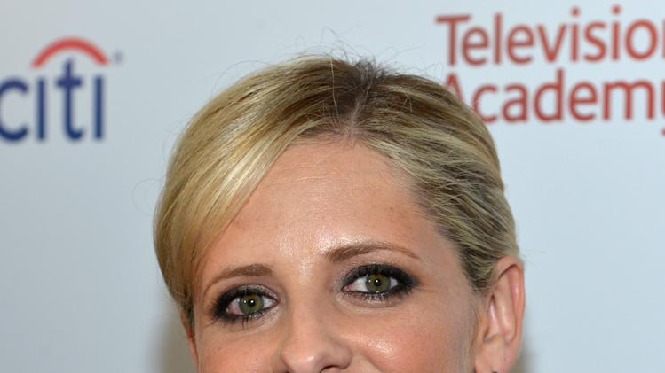 Sarah Michelle Gellar arrives at the 2014 Television Academy Hall of Fame on Tuesday, March 11, 2014, at the Beverly Wilshire in Beverly Hills, Calif. (Photo by John Shearer/Invision for the Television Academy/AP Images)