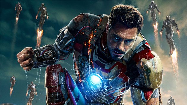 Robert Downey Jr. as Tony Stark in 'Iron Man 3' 