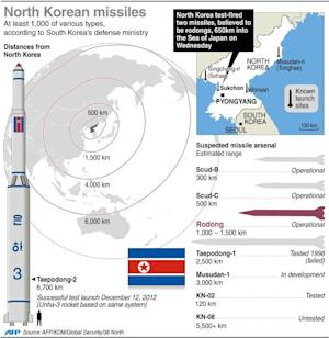 Fact file on North Korea's missile arsenal