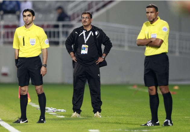 Bahrain's Al-Hidd head coach Showaiterreacts during their AFC Champions League match against Qatar's Lekhwiya in Doha