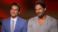 Matt Bomer and Joe Manganiello chat with Access Hollywood at the &#39;Magic Mike&#39; junket in Los Angeles on Jun 23, 2012 -- Access Hollywood