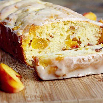 Peach Cake with Cognac Icing