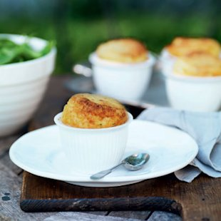 Baked Gruyère cheese soufflés: Recipe: Food: Red Online