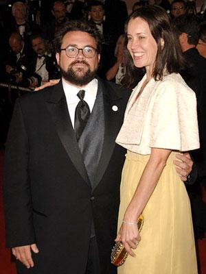 Kevin Smith and Jennifer Schwalbach at the 2006 Cannes Film Festival premiere of 20th Century Fox's X-Men: The Last Stand