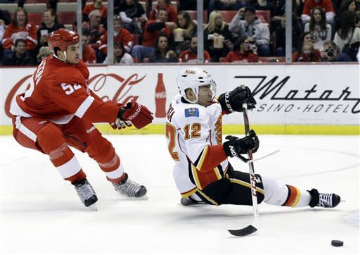 Kiprusoff injured but Flames beat Red Wings 4-1