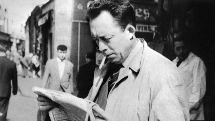 French writter and 1957 literature Nobel prize laureate Albert Camus (1913-1960) in 1953