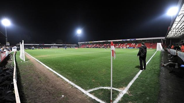 A general view of the pitch at Whaddon Road (PA Photos)